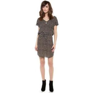 VELVET Drina India Challis Drawstring Dress, M